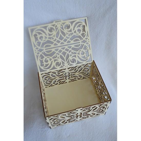 Dėžutė vokeliams kiauraraštė