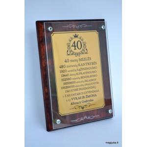 Sveikinimas 40 (Rubininių) vestuvių proga