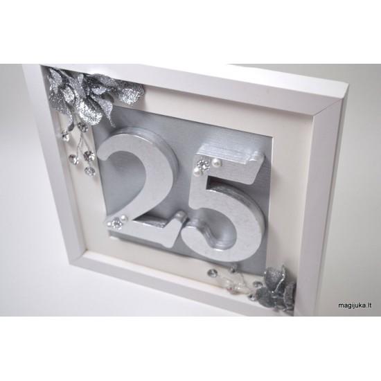 Rėmelis 25 sidabrinių vestuvių proga